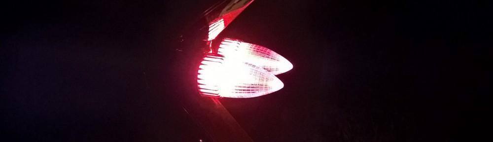 Rote Leuchten
