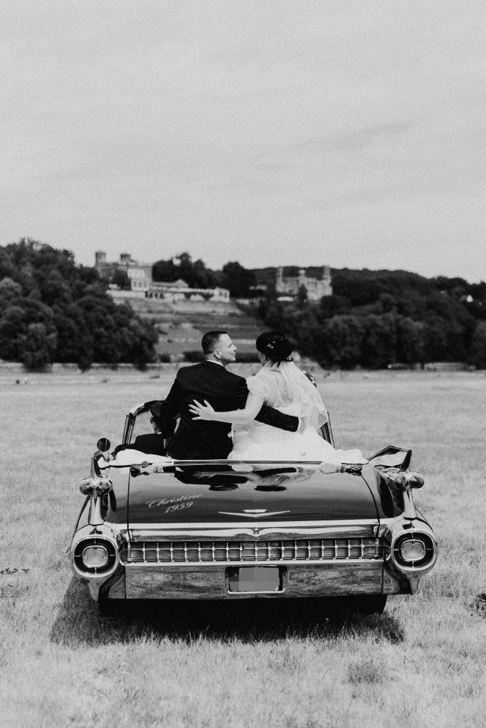 Hochzeitsfahrt vom 07.07.2018 - 9 Cadillac Hochzeit